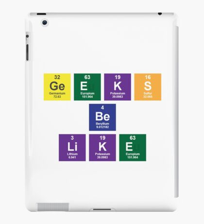 Geeks Be Like iPad Case/Skin