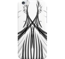 Courbes noires en symétrie iPhone Case/Skin