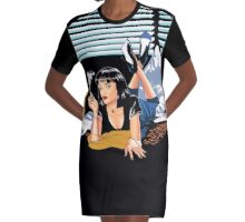 Pulp Fiction - Mia Standalone Variant Graphic T-Shirt Dress