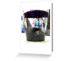 Ink Pot - Black Greeting Card