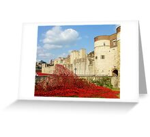 Wave of Blood-Tower of London Greeting Card