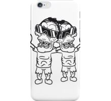 team 2 freunde rocker hard rock heavy metal musik party feiern band konzert festival sonnenbrille untoter böse monster horror halloween zombie  iPhone Case/Skin