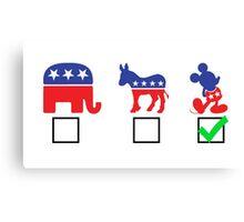Political Affiliation: Disney Canvas Print