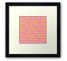 Feminist. Framed Print