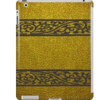 Damask Border Gold Leather iPad Case/Skin
