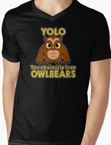 YOLO - You Obviously *LOVE* Owlbears Mens V-Neck T-Shirt