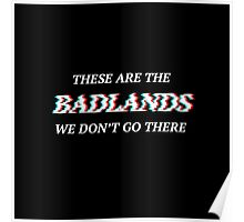 Halsey Badlands Quote 3D Glitch Poster