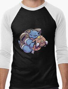 Blastoise Hugging Stunfisk Men's Baseball ¾ T-Shirt
