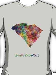 South Carolina US state in watercolor T-Shirt