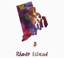Rhode Island US state in watercolor Kids Clothes
