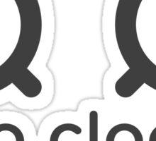 two clocks meme Sticker