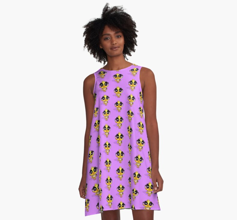 Fnaf chibi chica a line dresses clothing style unisex t shirt classic