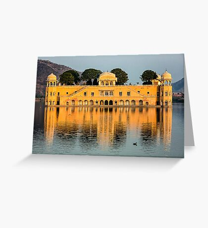 Water Palace - Rajasthan, India Greeting Card