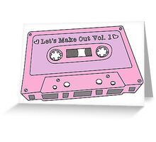 Make Out 80s Mixtape Greeting Card