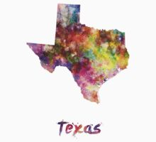 Texas US state in watercolor Kids Clothes