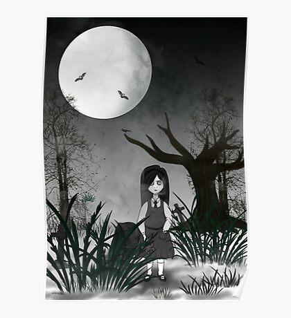 Mary Reaper in her garden Poster