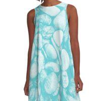 Stone Warmth Design (Shakespeare Blue Color) A-Line Dress