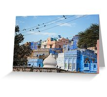 Blue City Morning - Jodphur, India Greeting Card
