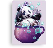 PANDA BATH Canvas Print