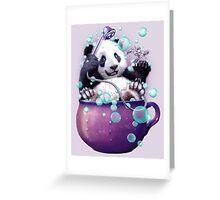 PANDA BATH Greeting Card