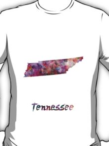 Tennessee US state in watercolor T-Shirt