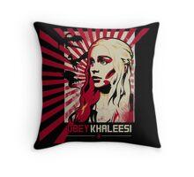 Obey Khaleesi Throw Pillow