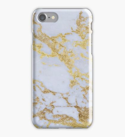 Gray Gold Marble Pattern iPhone Case/Skin