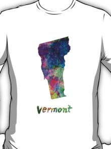 Vermont US state in watercolor T-Shirt