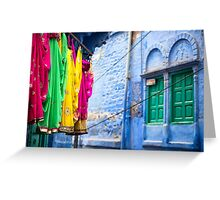 Jodphur Saris - Rajasthan, India Greeting Card