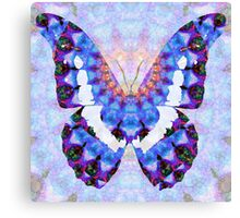 Purple Mandala Butterfly Art by Sharon Cummings Canvas Print