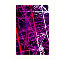 Ferris Wheel Abstract - Dark Mofo 2014 Art Print