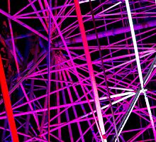 Ferris Wheel Abstract - Dark Mofo 2014 by clickedbynic