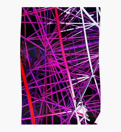Ferris Wheel Abstract - Dark Mofo 2014 Poster