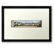 Medieval Courtyard Panorama Framed Print