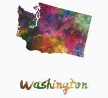 Washington US state in watercolor Kids Clothes