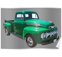 Green 1951 Ford F-1 Pickup Truck  Poster