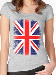 UK Union Jack Vintage Flag  Women's Fitted Scoop T-Shirt