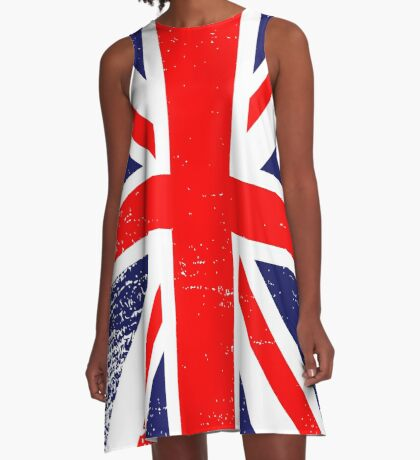 UK Union Jack Vintage Flag  A-Line Dress