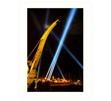 Craning for the Beam - Dark Mofo 2014 Art Print