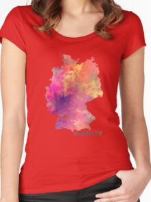 Germany map Women's Fitted Scoop T-Shirt