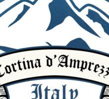 Cortina d'Ampezzo Ski Resorts Italy Sticker