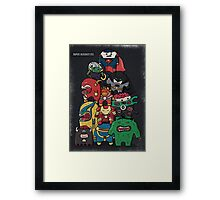 monsters are super heroes Framed Print
