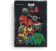 monsters are super heroes Canvas Print