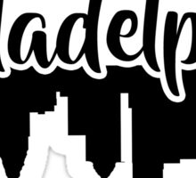Philadelphia Skyline Design Sticker