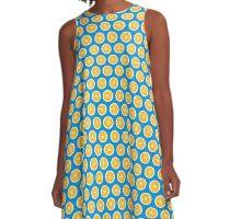 Lemon Allover Pattern A-Line Dress