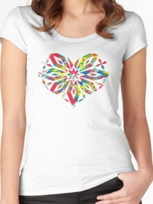 Rainbow Equality Snowflake, LGBT Gay Pride Parade Swag, unique rainbow gifts Women's Fitted Scoop T-Shirt