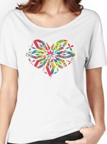 Rainbow Equality Snowflake, LGBT Gay Pride Parade Swag, unique rainbow gifts Women's Relaxed Fit T-Shirt