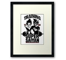 Training to go Super Saiyan v2 Framed Print