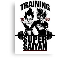 Training to go Super Saiyan v2 Canvas Print