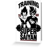 Training to go Super Saiyan v2 Greeting Card